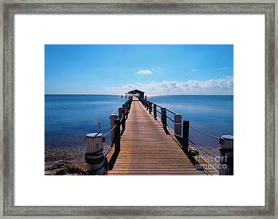 Cheeca Pier Framed Print by Carey Chen