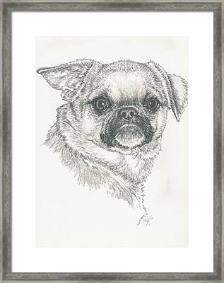 Cheeky Cheeks Framed Print by Barbara Keith