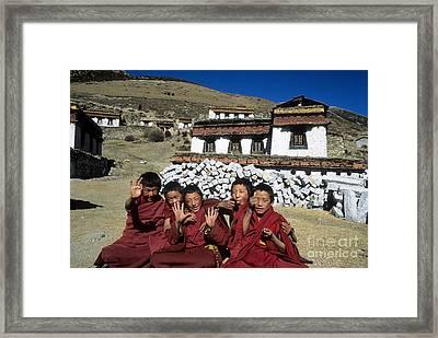 Cheeky Monks Framed Print by James Brunker