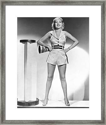 Cheerleader Betty Grable Framed Print by Underwood Archives