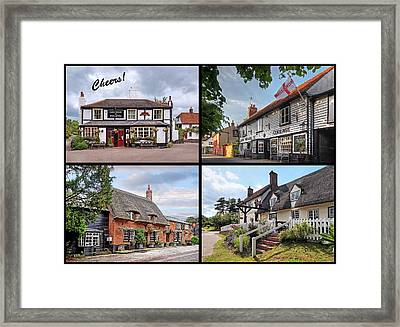 Cheers - Eat Drink And Be Merry - 4 Pubs Framed Print by Gill Billington