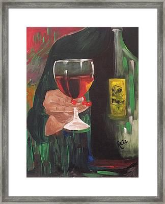 Cheers Framed Print by Reba Baptist