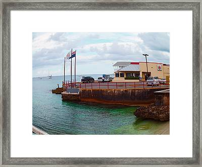Cheese Burger In Paradise Framed Print by Carey Chen