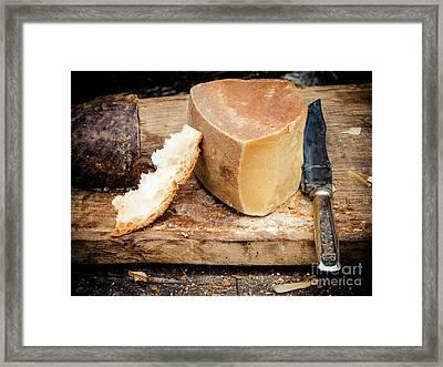 Cheese Knife  Bread Framed Print by Silvia Ganora