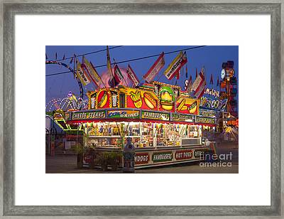 Cheese Steaks And Corn Dogs Framed Print by Clarence Holmes