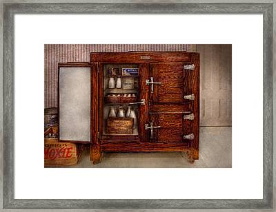 Chef - Fridge - The Ice Chest  Framed Print by Mike Savad