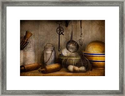 Chef - Ingredients - Breakfast At Grandpa's Framed Print by Mike Savad