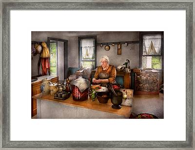 Chef - Kitchen - Cleaning Cherries  Framed Print by Mike Savad