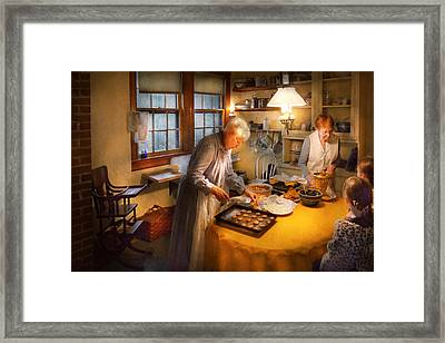 Chef - Kitchen - Coming Home For The Holidays Framed Print by Mike Savad