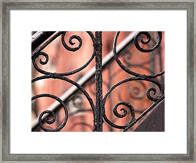 Chelsea Wrought Iron Abstract Framed Print by Rona Black