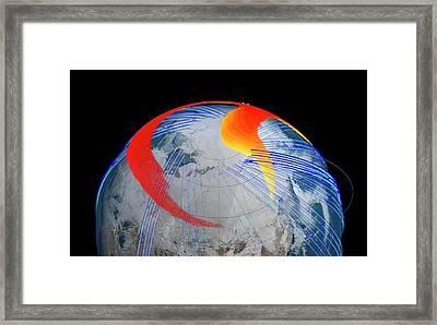 Chelyabinsk Meteor Explosion Framed Print by Nasa's Goddard Space Flight Center