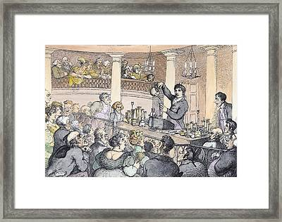 Chemical Lectures Framed Print by Thomas Rowlandson