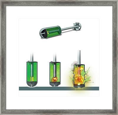 Chemical Warhead Framed Print by Claus Lunau