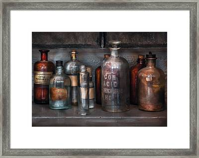 Chemist - Things That Burn Framed Print by Mike Savad