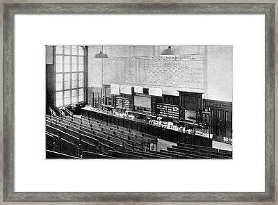 Chemistry Institute Framed Print by Cci Archives