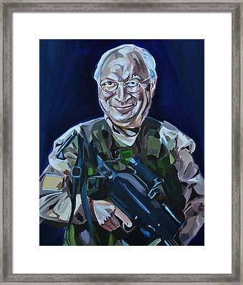 Cheneys Got A Gun Framed Print by Stuart Black