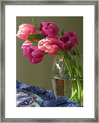 Cherish Is The Word Framed Print by Diana Angstadt