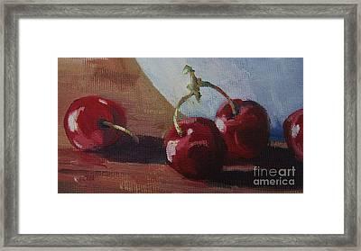Cherries 2 Framed Print by John Clark