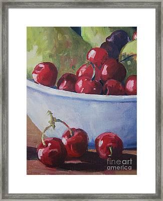 Cherries Framed Print by John Clark