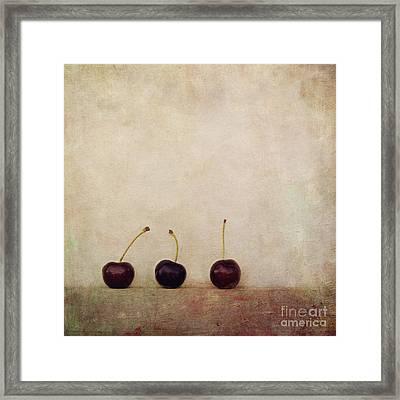 Cherries Framed Print by Priska Wettstein