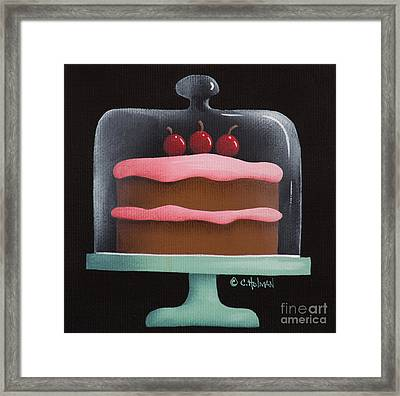 Cherry Chocolate Cake Framed Print by Catherine Holman