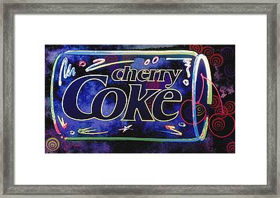 Cherry Coke 8 Framed Print by John Keaton