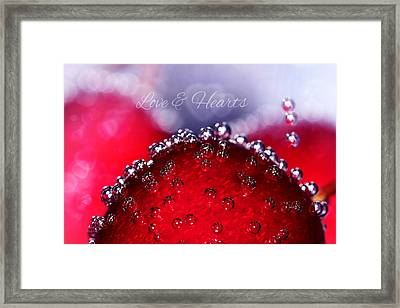 Cherry Fizz Hearts With Love Framed Print by Tracie Kaska