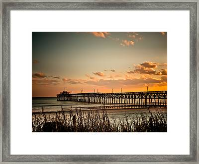 Cherry Grove Pier Myrtle Beach Sc Framed Print by Trish Tritz