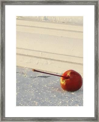 Cherry In The Spotlight Framed Print by Guy Ricketts