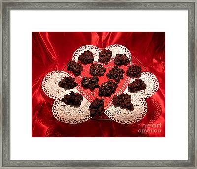 Cherry Pecan Chocolates Framed Print by Judyann Matthews
