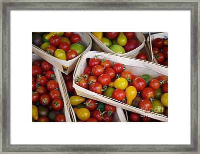 Cherry Tomatos Framed Print by Carlos Caetano