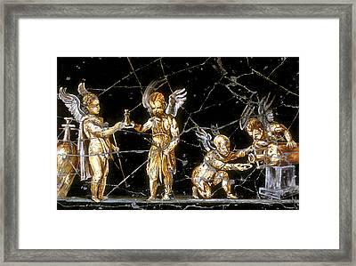 Cherubs Of Bacchus - Detail No. 1 Framed Print by Steve Bogdanoff