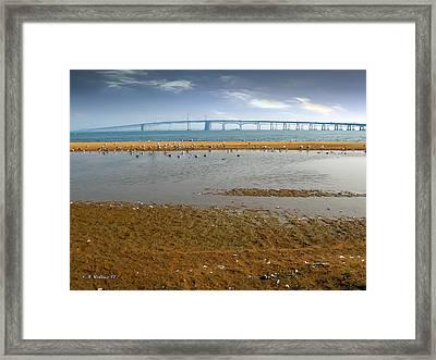 Chesapeake Bay Bridge Framed Print by Brian Wallace