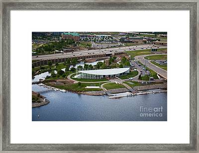 Chesapeake Boathouse  Framed Print by Cooper Ross