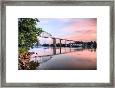 Chesapeake City Pastels Framed Print by JC Findley