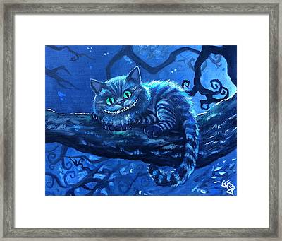 Cheshire Cat Framed Print by Tom Carlton