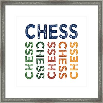 Chess Cute Colorful Framed Print by Flo Karp