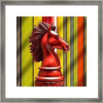 Chess Piece - Knight Framed Print by Chuck Staley