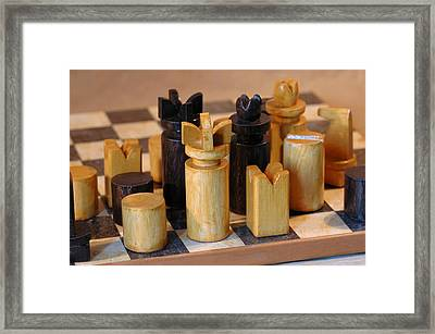 Chess What A Passion Framed Print by Guido Strambio
