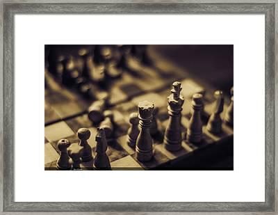 Chessmaster Framed Print by Diaae Bakri