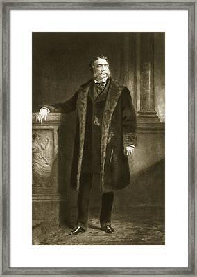 Chester A. Arthur Framed Print by Daniel Huntington