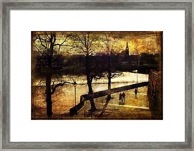 Chester Riverwalk Framed Print by Mal Bray