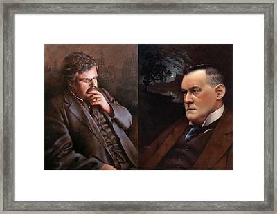Chesterbelloc Framed Print by Timothy Jones