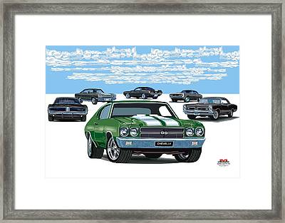 Chevelle 2 Framed Print by DARRYL McPHERSON