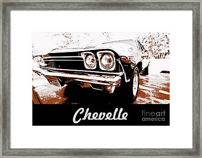 Chevelle Pop Art Framed Print by Cheryl Young