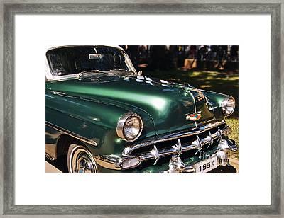 Chevrolet Bel Air 1954 Framed Print by Carlos Alkmin