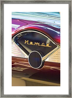 Chevrolet Belair Nomad Dashboard Framed Print by Jill Reger