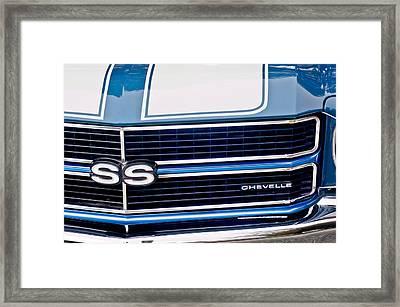 Chevrolet Chevelle Ss Grille Emblem 2 Framed Print by Jill Reger