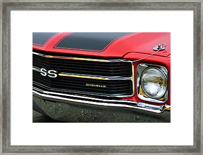 Chevrolet Chevelle Ss Grille Emblem Framed Print by Jill Reger