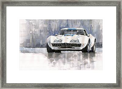 Chevrolet Corvette C3 Framed Print by Yuriy  Shevchuk